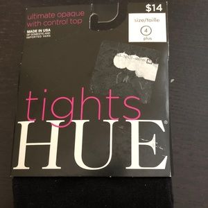 Hue Ultimate Opaque Tights w/ Control Top Black